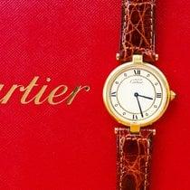 Cartier Vermeil 30mm Silber 925 Luxus Armbanduhr Ungetragen NOS