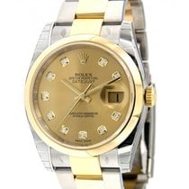 Rolex Datejust 36mm 116203 Yellow Gold, Steel, Diamonds, 36mm