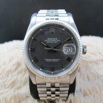Rolex DATEJUST 16234 with Original Matte Grey Raised Roman Dial