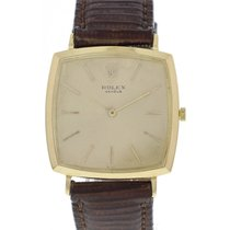 Rolex Vintage Rolex 18K Cushion Shaped Manual Watch circa...