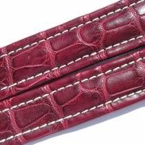 Breitling Band 20mm Croco Redbrown Roja Maron Rot Braun Strap...