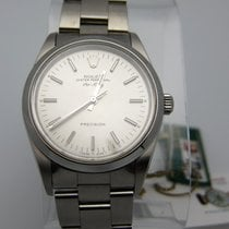 Rolex Air King Re 14000 Ss  Silver Dial Rare