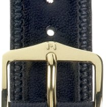 Hirsch Uhrenarmband Leder Ascot schwarz 01575050-1-17 17mm