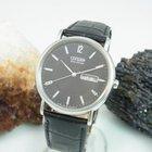 Citizen Eco Drive Day Date Anzeige Mit Leder Armband Herrenuhr