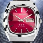 Citizen Vintage Stainless Steel Mens Japanese Mechanical Watch...