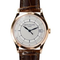 百達翡麗 (Patek Philippe) New  Calatrava 18k Rose Gold Silver...