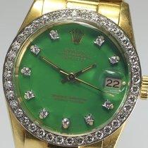 ロレックス (Rolex) DATE JUST diamond original Green dial 6828G