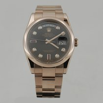 Rolex DAY DATE ROSE GOLD RUBY DiAMOND DiAL 36mm