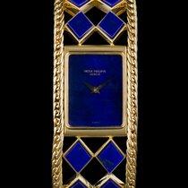 Patek Philippe 18k Y/Gold Rare Lapis Lazuli Set Ladies Vintage...