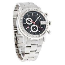Gucci 101 G-Case Diamond Mens Swiss Quartz Chronograph Watch...