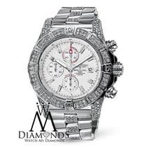 Breitling Mens Breitling Super Avenger A13370 White Dial Watch...