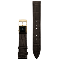 Frederique Constant E-Strap Dark Brown Yellow Gold Plated 20mm