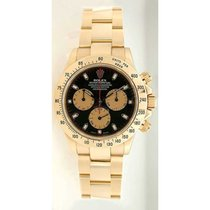 Rolex Daytona 116528 18K Yellow Gold With Factory Black Paul...
