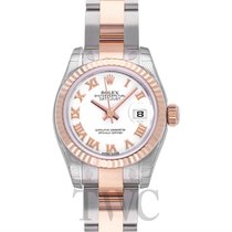 Rolex Lady Oyster Perpetual White/18k rose gold Ø26 mm - 179171