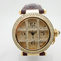 Cartier Pasha 18K Y. Gold 2 cttw F/VS Diamond 38mm Swiss Wrist...