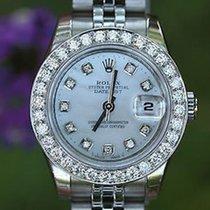 Rolex Ladies Stainless Steel Datejust 26mm Oversize Diamond...
