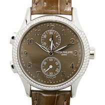 Patek Philippe Complications White Gold Diamond Brown Manual...