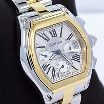 Cartier Roadster Chrono W62027z1 2618 Xl Auto 2tone 18k Yellow...