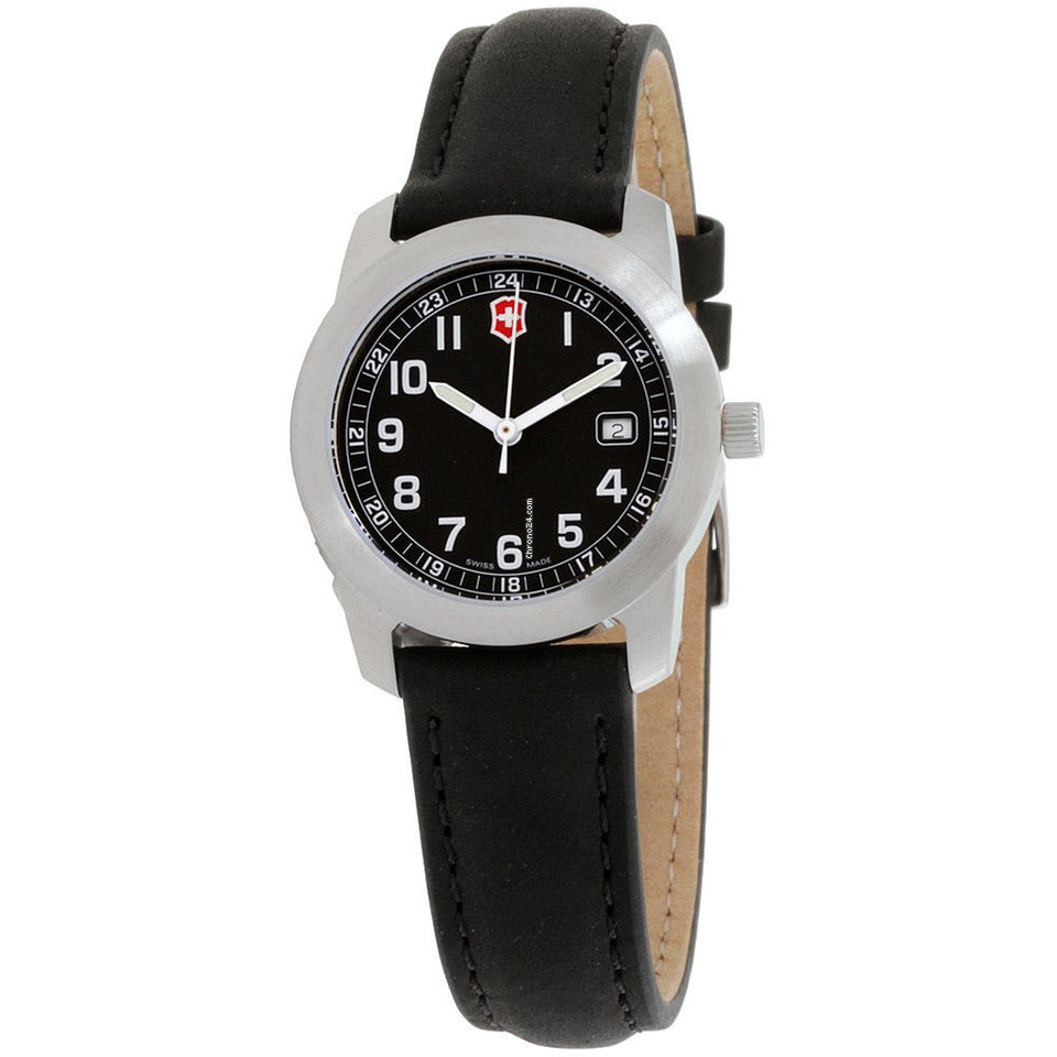 312fd0bb1af Victorinox Swiss Army Field Black Dial Leather Strap Ladies... por 36 €  para vender por um Seller na Chrono24