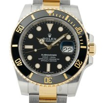 Rolex Submariner Ceramic Bezel Insert Steel & Yellow Gold...