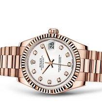 Rolex Datejust Rose Gold 18kt White Diamond