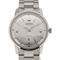 Vulcain 50s Presidents' Classic 42 Silver-toned Dial Steel