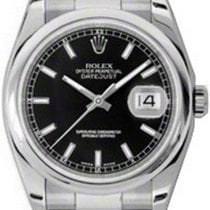 Rolex Datejust 36 116200-BLKSDO Black Index Stainless Steel...