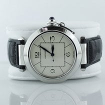 Cartier Pasha Automatic White Dial On Alligator Strap