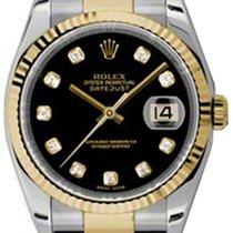 Rolex Datejust, Ref. 116233 - schwarz Diamant ZB/Oysterband