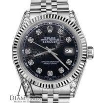 Rolex 31mm Oyster Perpetual Datejust Jubilee Bracelet Black...