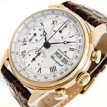 Jacques Lemans 486 Automatik Chronograph ETA Valjoux 7750 Gold...