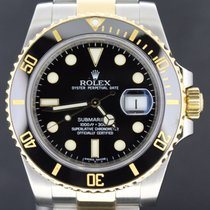 勞力士 (Rolex) Submariner Date Gold/Steel Black Dial,40MM FullSet...