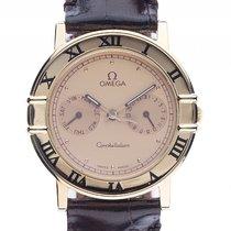 Omega Constellation Day Date 18kt Gelbgold Quarz Armband Leder...