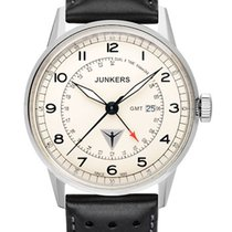 Junkers G38 6946-5 Dual Time beige 42 mm 10 ATM