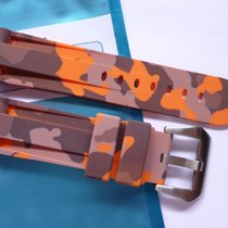 Bodhy Rubber strap 24mm - Orange Camo with buckle Camouflage...