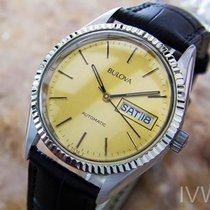 Bulova P1 36mm Automatic Stainless Steel Mens 1970s Vintage...