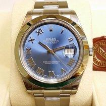 Rolex Datejust II Blue Roman Dial Smooth Bezel 41mm [NEW]