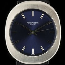 Patek Philippe Stainless Steel Blue Baton Dial Oval Case...