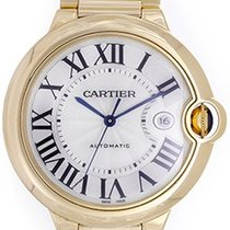 Cartier Ballon Bleu Men's Large 42mm 18k Yellow Gold Watch...