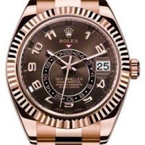 Rolex Sky-Dweller 326935 42mm Everose Chocolate Brown Arabic...