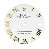Rolex DateJust 31mm White/Gold Roman Numeral Original Factory...