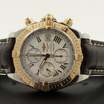 Breitling Chronomat Evolution Rose Gold Steel Roman Dial Croco...