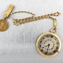까르띠에 (Cartier) Solid 18K Gold Open Face Pocket Double Chapter...