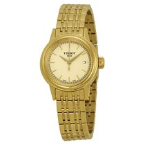 Tissot Carson Champagne Dial Yellow Gold PVD Ladies Watch...