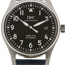 IWC Pilot's Mark XVIII Top Gun Miramar Black Leather Auto...