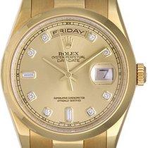 Rolex President Day-Date Champagne Diamond Dial Men's...