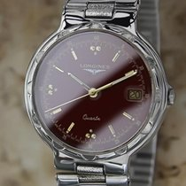 Longines 1990s Conquest Mens Swiss Made Stainless Steel Luxury...