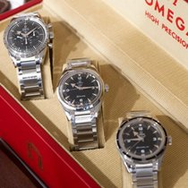 OmegaTrilogy Set L.E. 60th Railmaster Seamaster Speedmaster...
