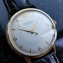 Tiffany & Co. Vintage 1960s 14k Solid Gold Automatic Wind 34mm...