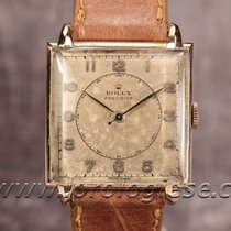 Rolex Precision Rare 1947 Red Gold & Steel Tank Carre Ref....